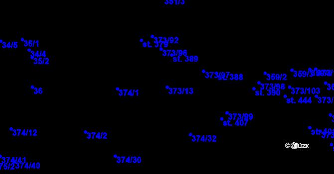 Parcela st. 373/13 v k.ú. Kokory, Katastrální mapa