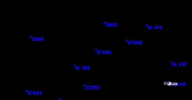 Parcela st. 373/94 v k.ú. Kokory, Katastrální mapa