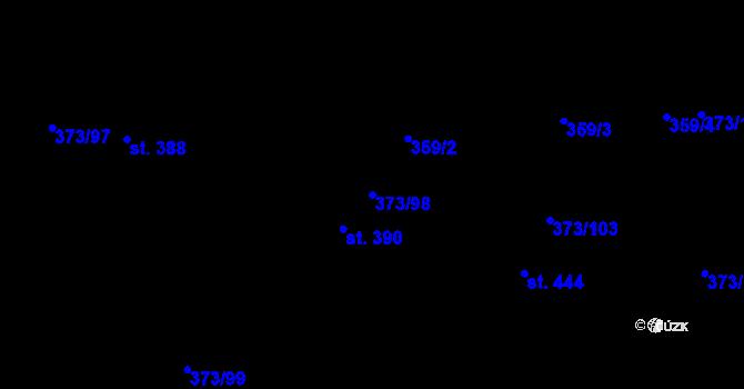 Parcela st. 373/98 v k.ú. Kokory, Katastrální mapa
