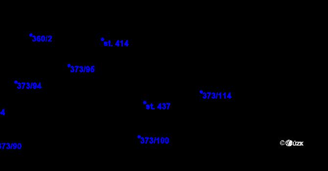 Parcela st. 373/100 v k.ú. Kokory, Katastrální mapa