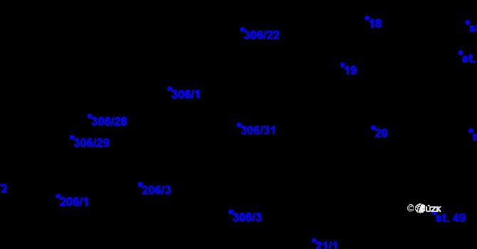 Parcela st. 306/31 v k.ú. Kokory, Katastrální mapa