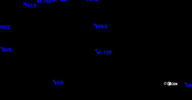 Parcela st. 122 v k.ú. Doubrava u Aše, Katastrální mapa