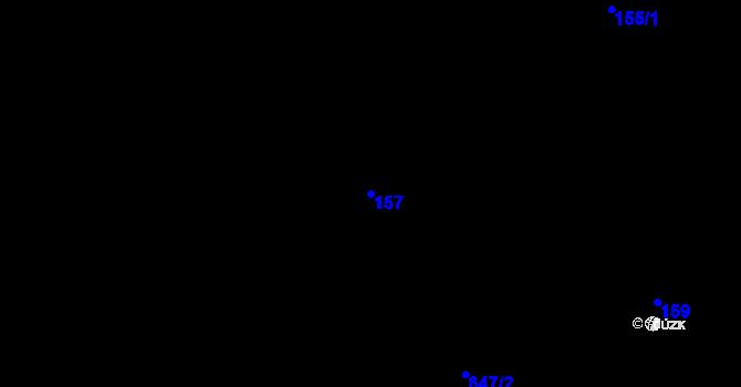 Parcela st. 157 v k.ú. Doubrava u Aše, Katastrální mapa