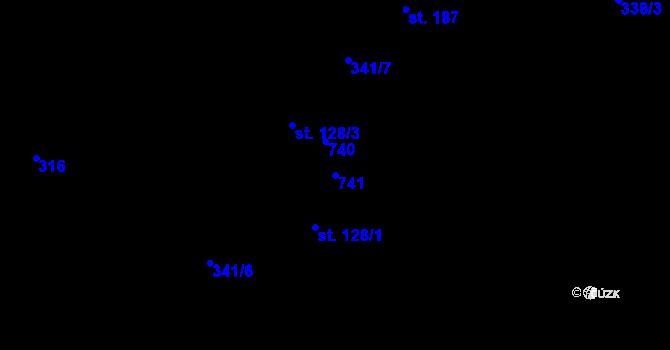 Parcela st. 741 v k.ú. Doubrava u Aše, Katastrální mapa