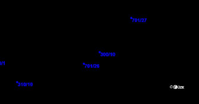 Parcela st. 300/10 v k.ú. Doubrava u Aše, Katastrální mapa