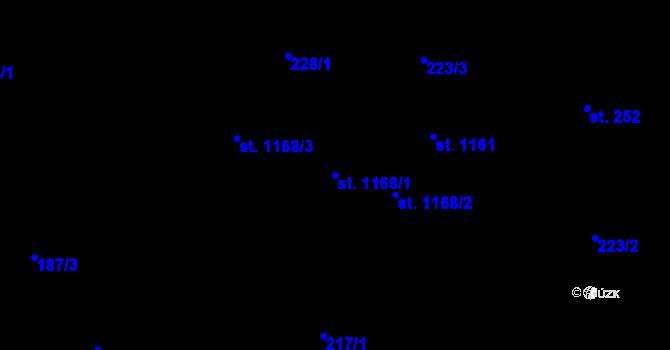 Parcela st. 1168/1 v k.ú. Polubný, Katastrální mapa