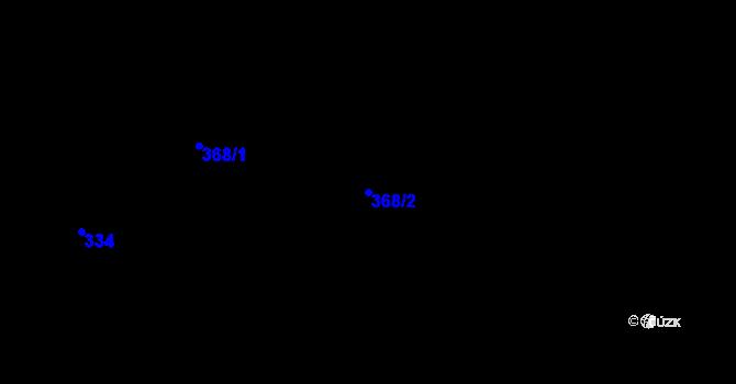 Parcela st. 368/2 v k.ú. Štípa, Katastrální mapa