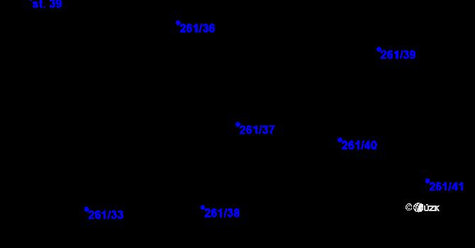 Parcela st. 261/37 v k.ú. Kyjov u Krásné Lípy, Katastrální mapa