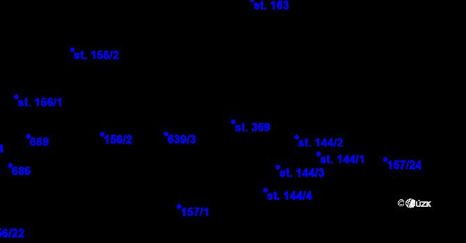 Parcela st. 369 v k.ú. Radčice u Krásné Studánky, Katastrální mapa