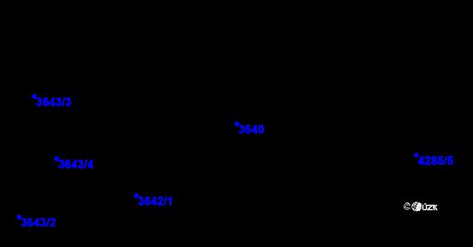 Parcela st. 3640 v k.ú. Kutná Hora, Katastrální mapa