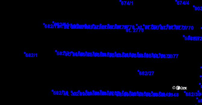 Parcela st. 2385 v k.ú. Kyjov, Katastrální mapa