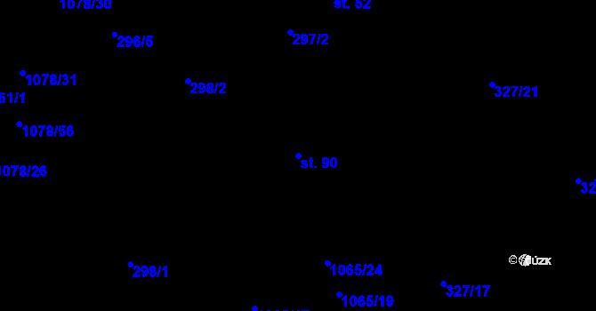 Parcela st. 90 v k.ú. Lány na Důlku, Katastrální mapa