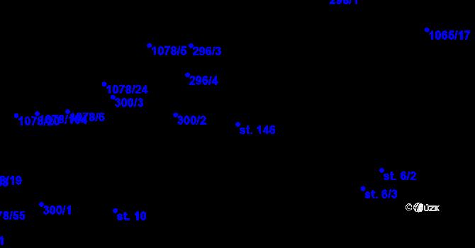 Parcela st. 146 v k.ú. Lány na Důlku, Katastrální mapa