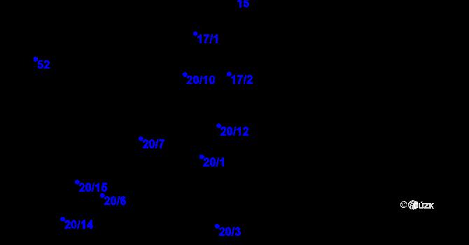 Parcela st. 20/13 v k.ú. Nejdek u Lednice, Katastrální mapa