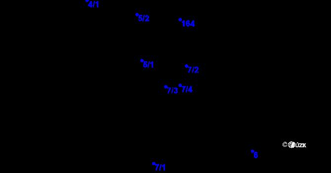 Parcela st. 7/3 v k.ú. Nejdek u Lednice, Katastrální mapa