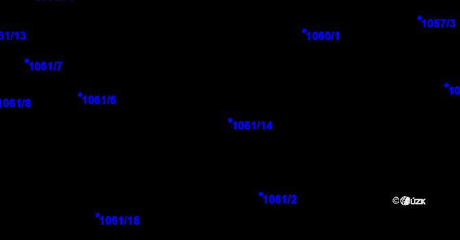 Parcela st. 1061/14 v k.ú. Lelekovice, Katastrální mapa