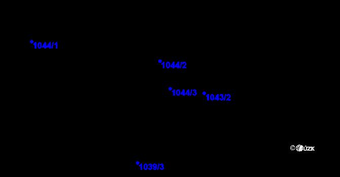 Parcela st. 1044/3 v k.ú. Leletice, Katastrální mapa