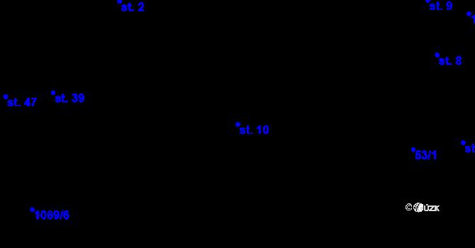 Parcela st. 10 v k.ú. Svárkov, Katastrální mapa