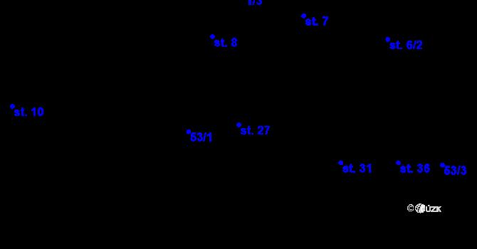 Parcela st. 27 v k.ú. Svárkov, Katastrální mapa