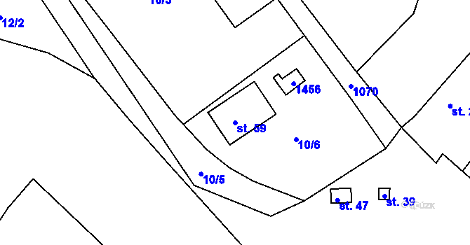 Parcela st. 59 v k.ú. Svárkov, Katastrální mapa