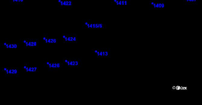 Parcela st. 1413 v k.ú. Lety u Dobřichovic, Katastrální mapa