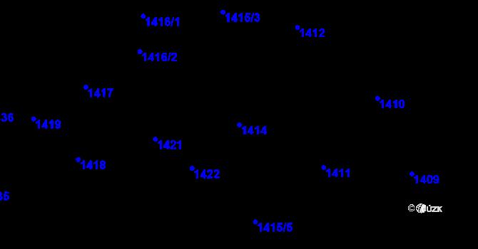 Parcela st. 1414 v k.ú. Lety u Dobřichovic, Katastrální mapa