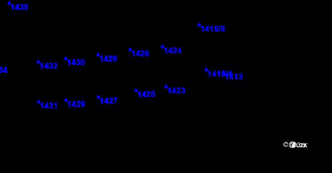 Parcela st. 1423 v k.ú. Lety u Dobřichovic, Katastrální mapa