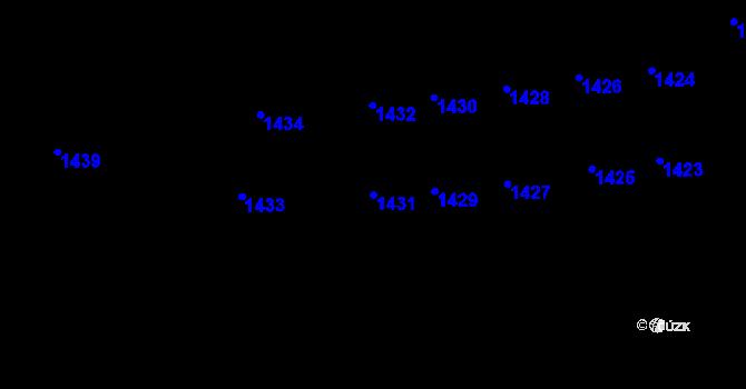 Parcela st. 1431 v k.ú. Lety u Dobřichovic, Katastrální mapa