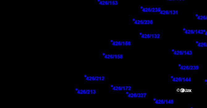 Parcela st. 426/158 v k.ú. Lhota u Dobřan, Katastrální mapa