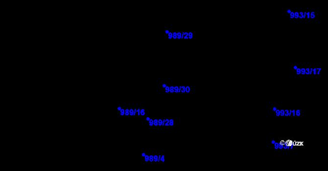 Parcela st. 989/30 v k.ú. Lhota u Zlína, Katastrální mapa