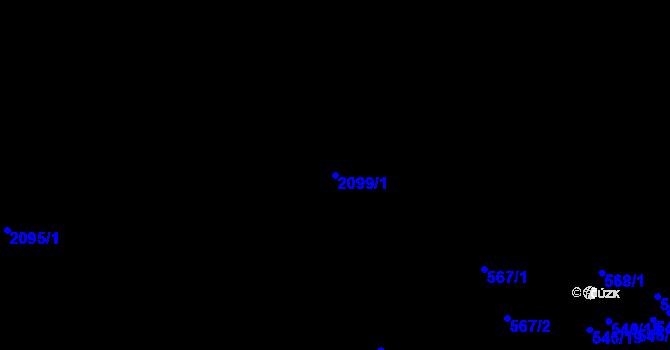 Parcela st. 2099/1 v k.ú. Liberec, Katastrální mapa
