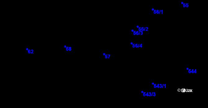 Parcela st. 57 v k.ú. Ruprechtice, Katastrální mapa