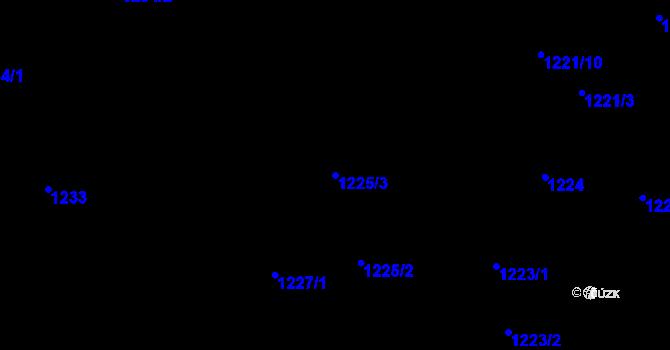 Parcela st. 1225/3 v k.ú. Ruprechtice, Katastrální mapa