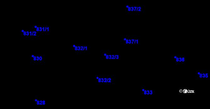 Parcela st. 832/3 v k.ú. Ruprechtice, Katastrální mapa