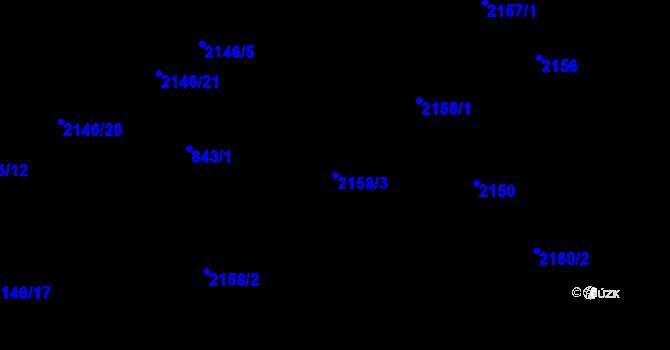 Parcela st. 2158/3 v k.ú. Ruprechtice, Katastrální mapa