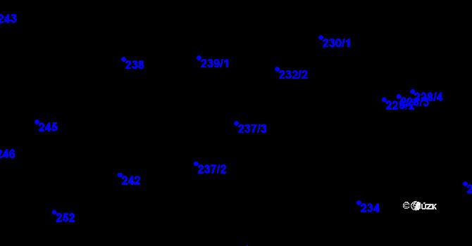 Parcela st. 237/3 v k.ú. Nové Pavlovice, Katastrální mapa