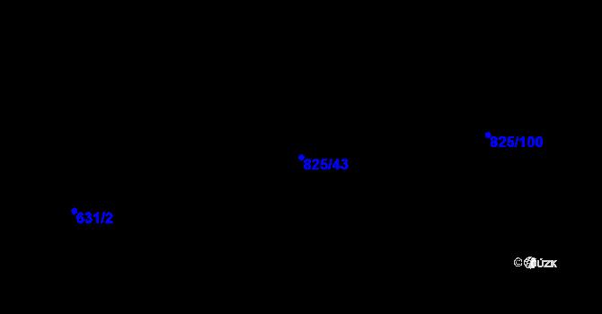 Parcela st. 825/43 v k.ú. Staré Pavlovice, Katastrální mapa
