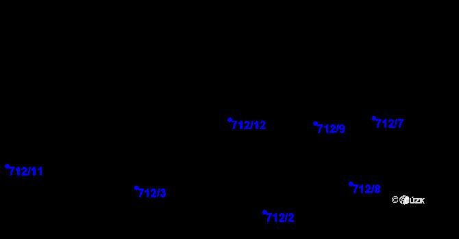 Parcela st. 712/12 v k.ú. Staré Pavlovice, Katastrální mapa