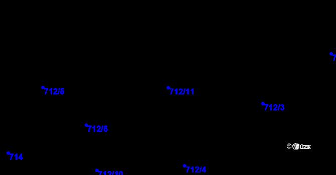 Parcela st. 712/11 v k.ú. Staré Pavlovice, Katastrální mapa