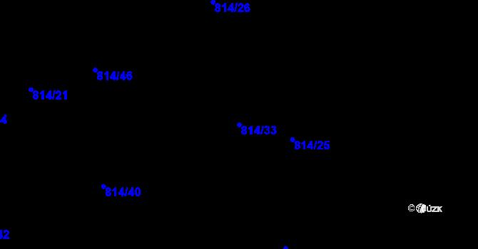 Parcela st. 814/33 v k.ú. Staré Pavlovice, Katastrální mapa