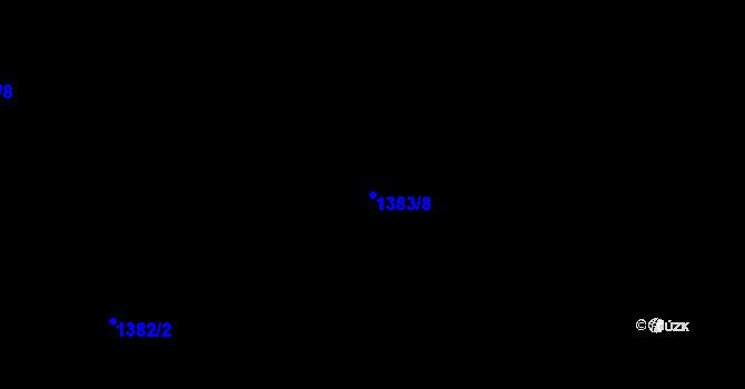Parcela st. 1383/8 v k.ú. Růžodol I, Katastrální mapa