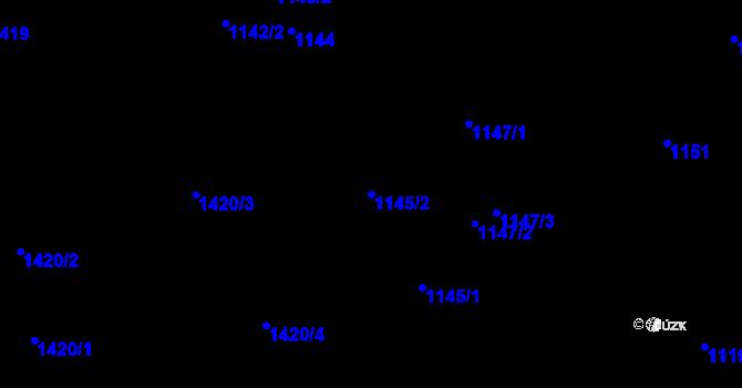 Parcela st. 1145/2 v k.ú. Růžodol I, Katastrální mapa