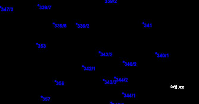 Parcela st. 342/2 v k.ú. Růžodol I, Katastrální mapa
