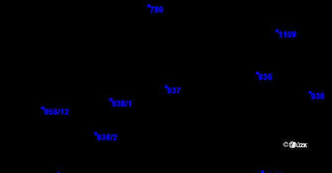 Parcela st. 937 v k.ú. Horní Růžodol, Katastrální mapa