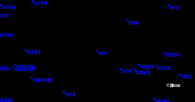Parcela st. 1017 v k.ú. Rochlice u Liberce, Katastrální mapa