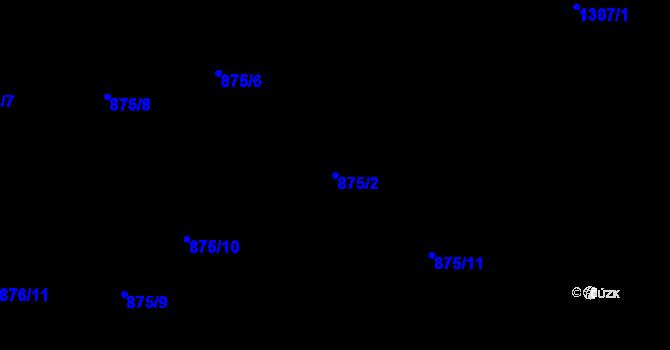 Parcela st. 875/2 v k.ú. Starý Harcov, Katastrální mapa