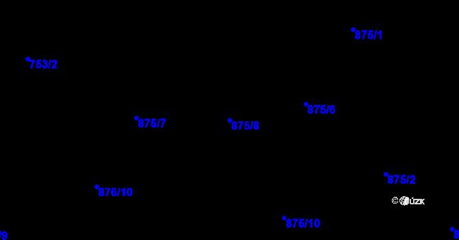 Parcela st. 875/8 v k.ú. Starý Harcov, Katastrální mapa