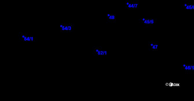Parcela st. 52/1 v k.ú. Ostašov u Liberce, Katastrální mapa