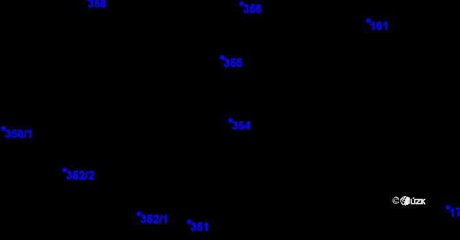 Parcela st. 354 v k.ú. Horní Suchá u Liberce, Katastrální mapa