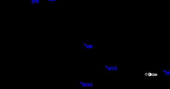 Parcela st. 196 v k.ú. Karlinky, Katastrální mapa